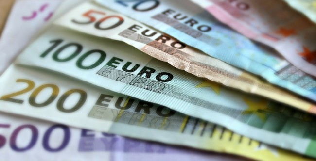 Billets euros banque finance