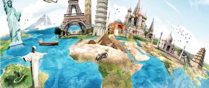 Pays du monde globe études étranger
